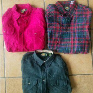 Cabela's Southwestern Plaid/Solid Shirts sz. XL